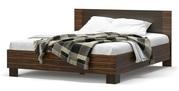 двуспальную кровать с ламелями